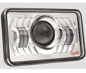 Faro delantero LED Grote de 4x6