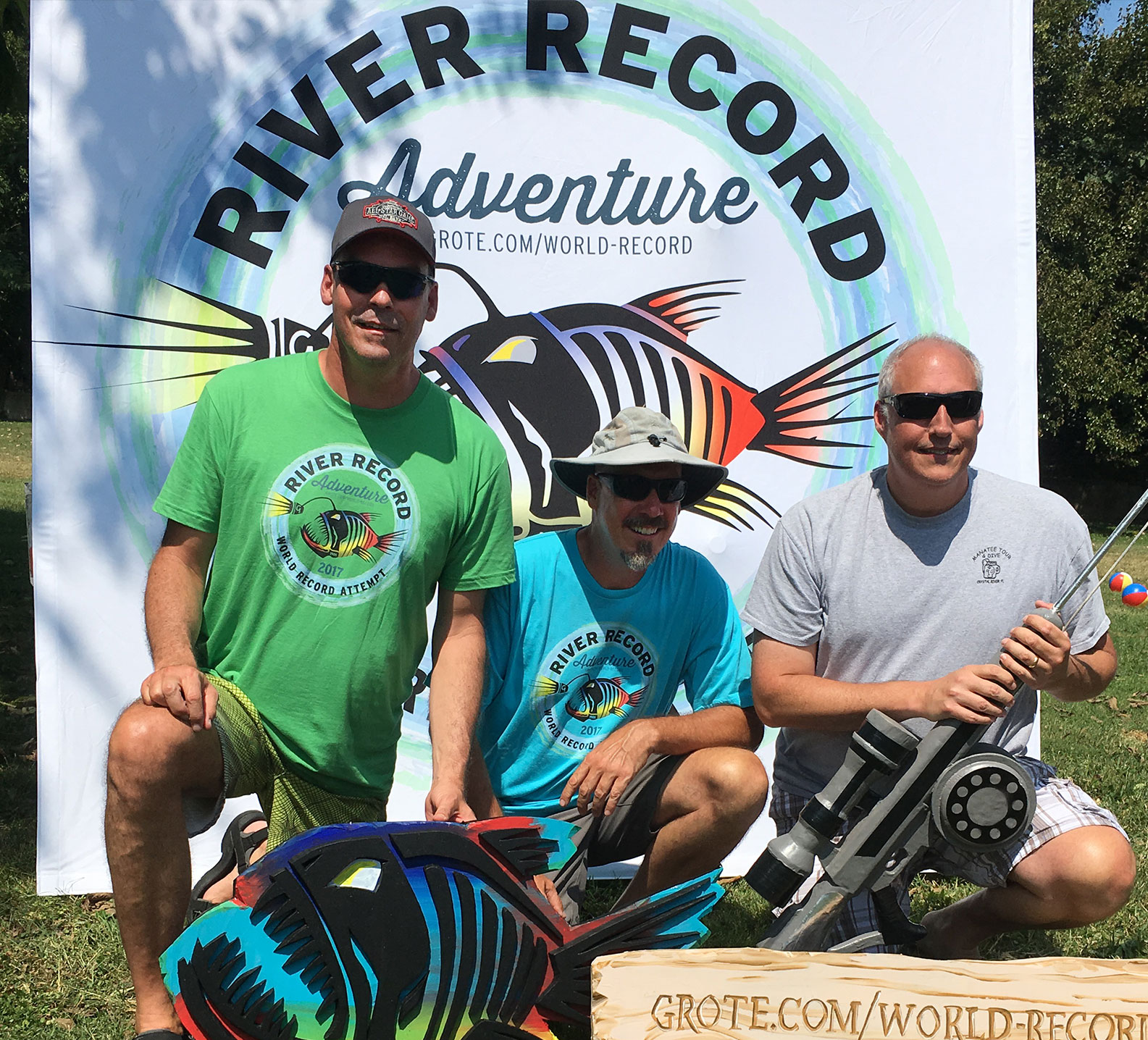 Marc Phelps and his brothers during the River Record Adventure party in Madison
