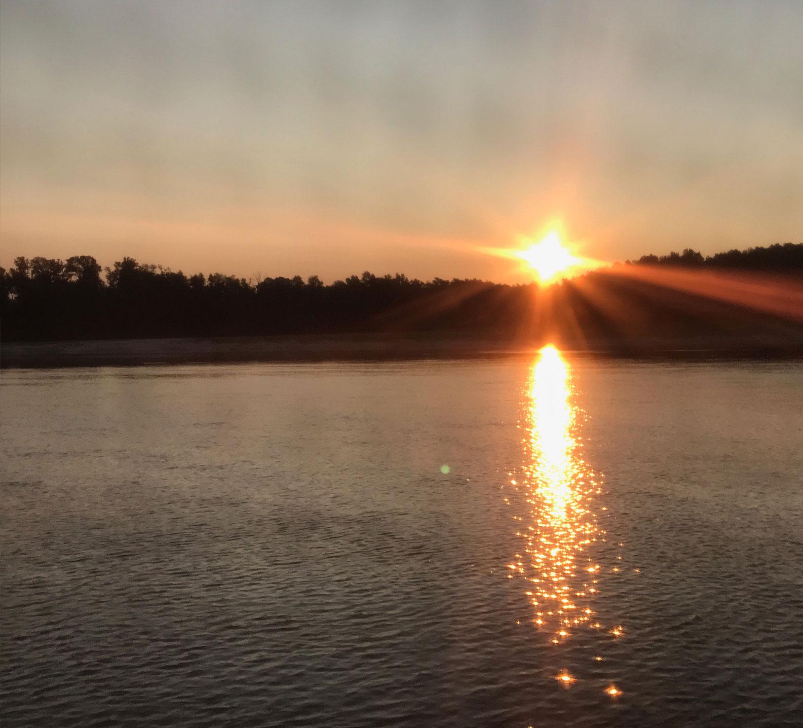Morning sunrise on day 15