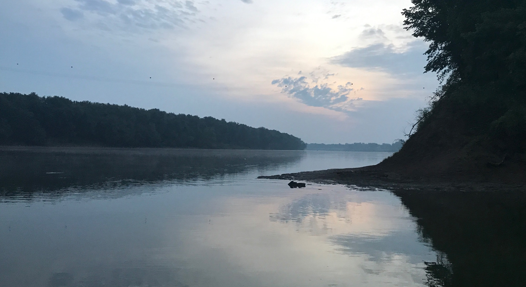 a photo of the Ohio River that Marc Phelps took the afternoon of day six