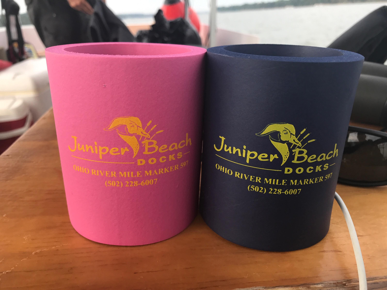 Koozies from Juniper Beach Docks in Kentucky