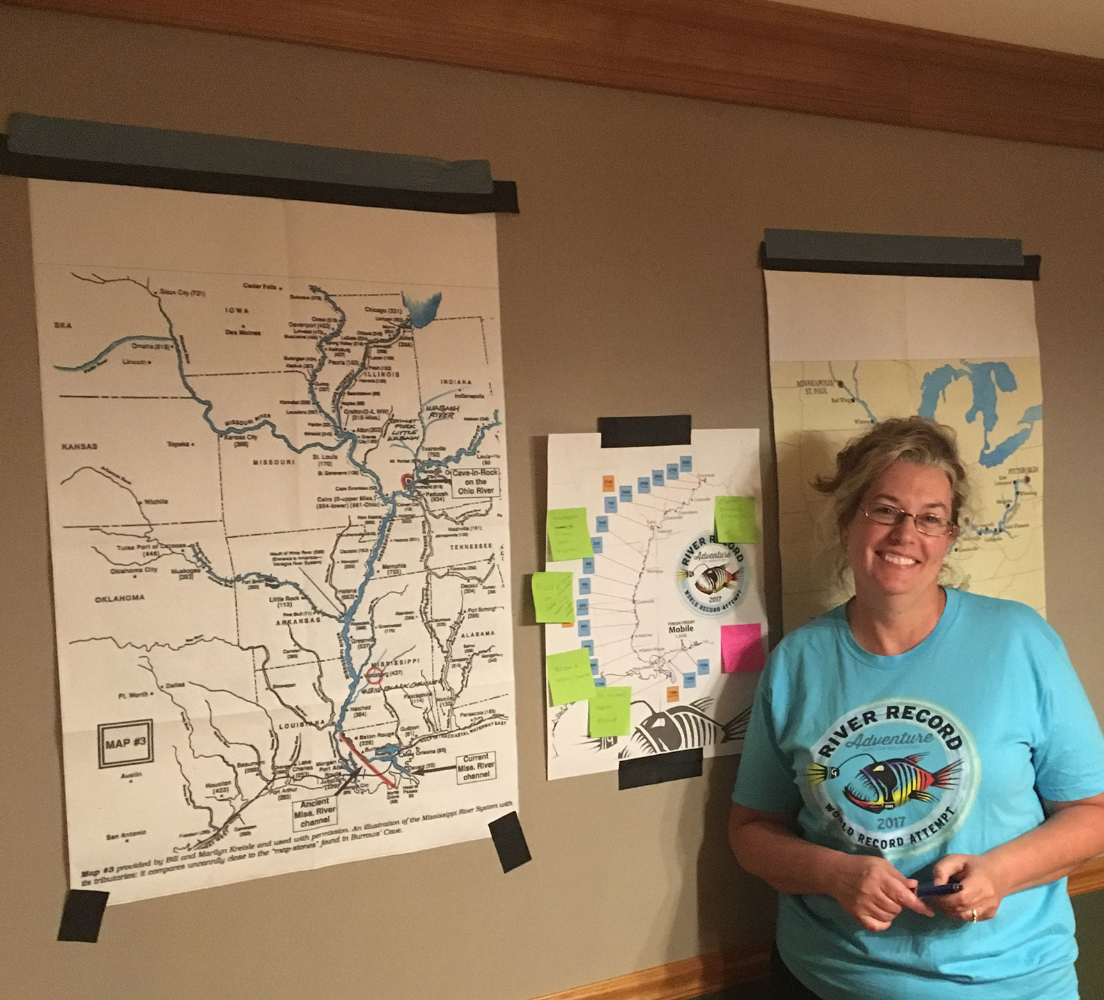 Marc Phelps's wife Linda tracking where the jon boat is