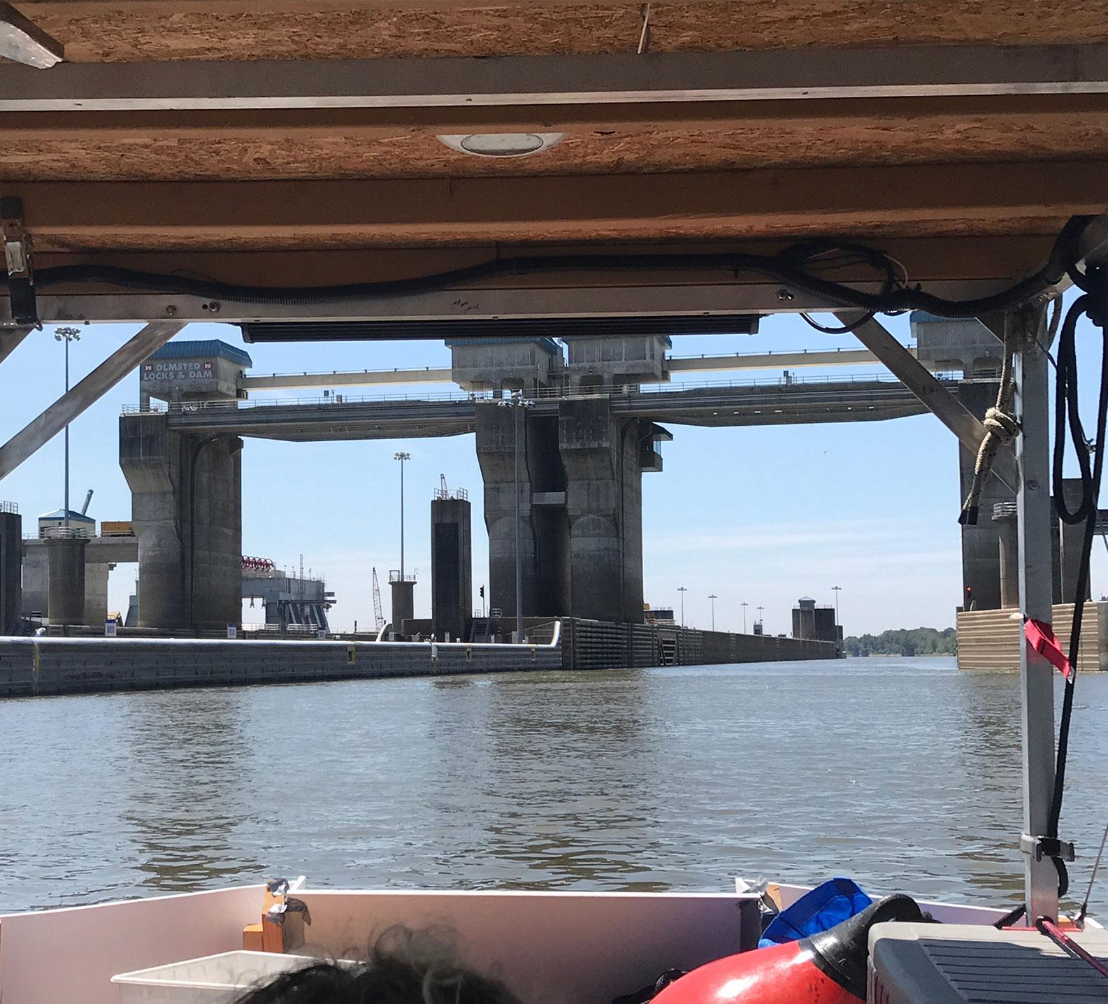 Lock on the Ohio River