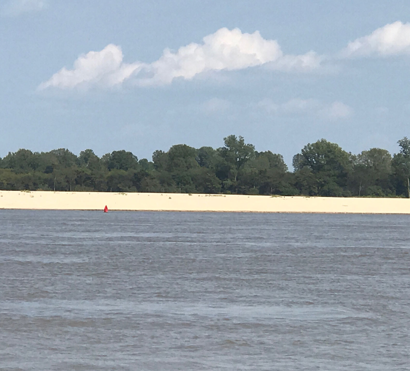 Sandbar along the Mississippi River