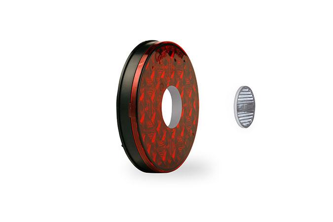 Feux arrêt/arrière/clignotant ovales à DEL de 4 po avec phare de recul séparé