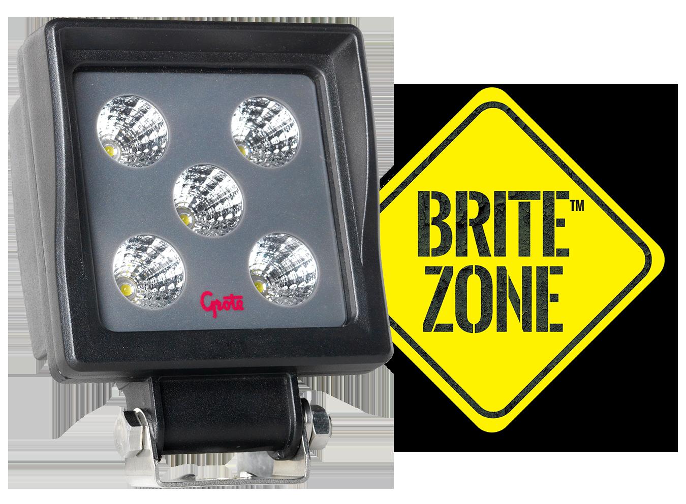 BZ201-5 LED Work Light with BriteZone Logo