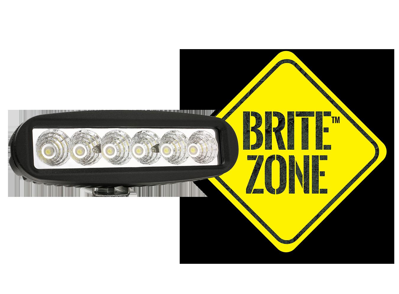 BZ301-5 LED Work Light with BriteZone Logo