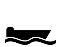 Black Boat Icon