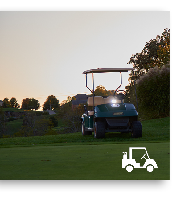 BriteZone LED Light on Golf Cart