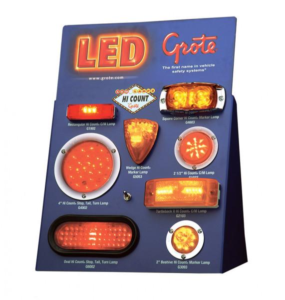 Exhibidor LED de mostrador, Exhibidor de mostrador