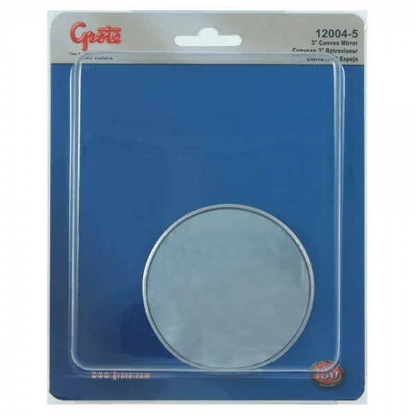 "Stick-On Convex Mirror, 3"" Round, Retail Pack"