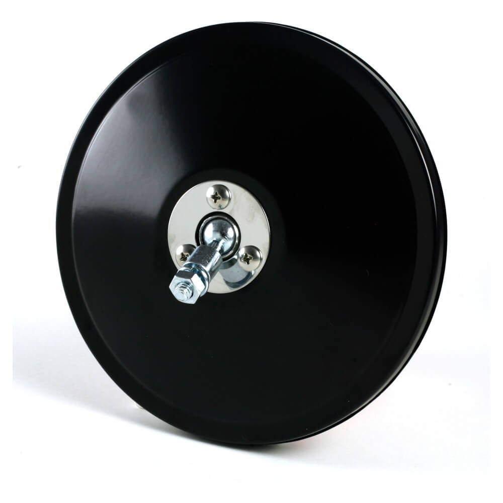 "6"" Convex Center-Mount Spot Mirror, Mirror Head Only, Black"