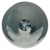 "6"" Convex Center-Mount Spot Mirror, Stainless Steel, Mirror Head Only"