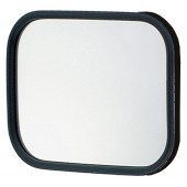Rectangular Stack & Spot Mirror, Mirror Only, Black