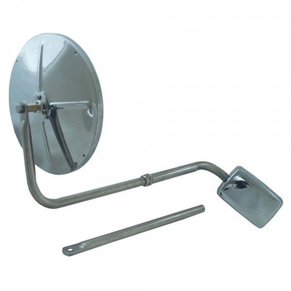 Hood-Mounted Mirror, Stainless steel