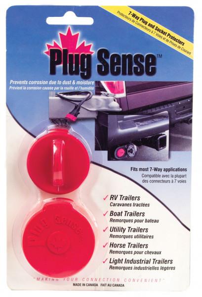 Protector de enchufe y conector de 7 vías, rojo