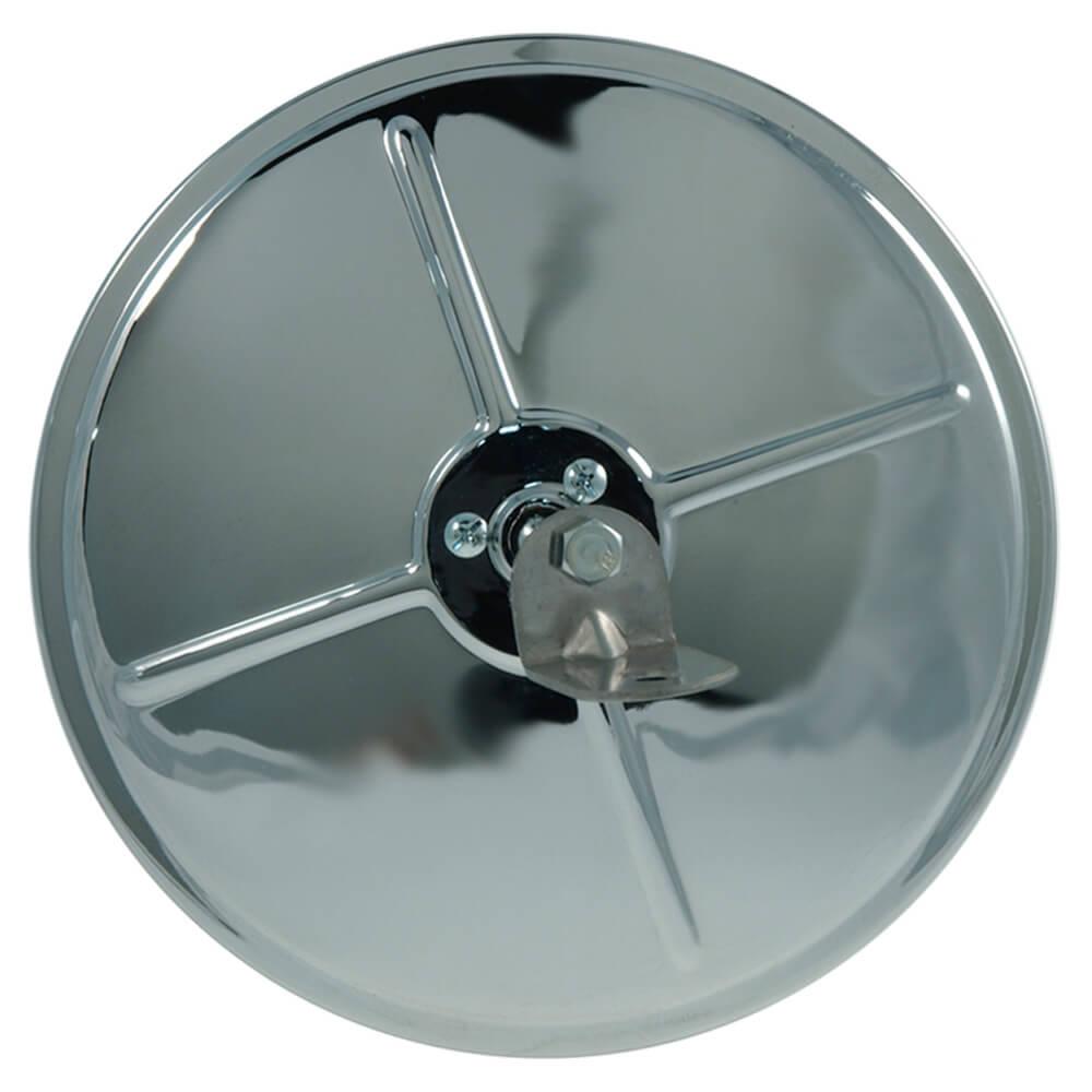 """Runder, konvexer 8""""-Spiegel mit Kugelbolzenbefestigung in der Mitte, Chrom"""