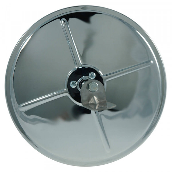 "8"" Round Convex Mirror With Center-Mount Ball-Stud, Chrome"
