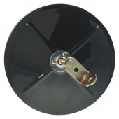 "8 1/2"" Convex Mirror With Center-Mount Ball-Stud, Black"