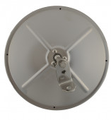 """8 1/2"""" Convex Mirror With Center-Mount Ball-Stud, Stainless Steel thumbnail"""