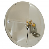 """8 1/2"""" Convex Mirror With Center-Mount Ball-Stud, Stainless Steel"""