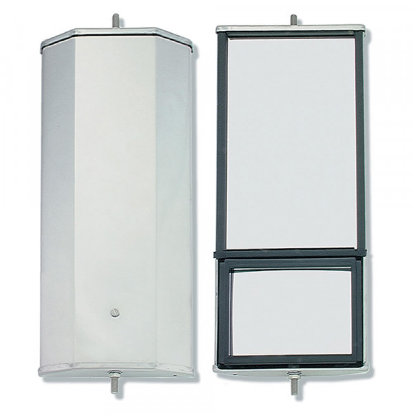 OEM-Style Split-Focus West Coast Box Mirror, Stainless Steel