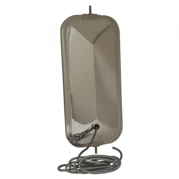 OEM-Style Peak-Back West Coast Mirror, Heated, Stainless Steel