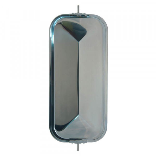 OEM-Style Peak-Back West Coast Mirror, Stainless Steel