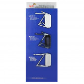 OEM-Style Flat Ribbed-Back West Coast Mirror, w/ Arm Assembly, Black, Retail Pack thumbnail