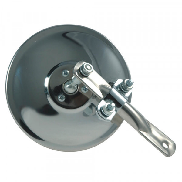 """5"""" Round Clamp-On Spot Mirror, Stainless Steel, w/ Arm Assembly"""