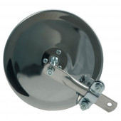 "6"" Convex Center-Mount Spot Mirror, w/ Arm Assembly, Stainless Steel"