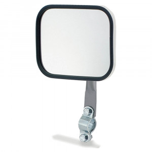 Rectangular Stack & Spot Mirror, w/ Arm Assembly, White