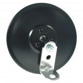 "5"" Round Clamp-On Spot Mirror, w/ ""L"" Bracket, Black"
