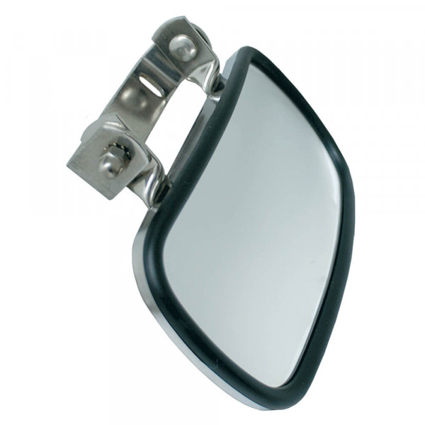 Rectangular Over-The-Door Convex Mirror, Black