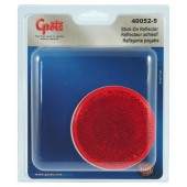 Round Stick-On Reflector, Red, Retail Pack