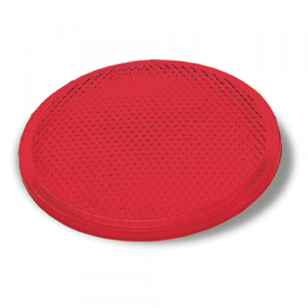 Round Stick-On Reflector, Red