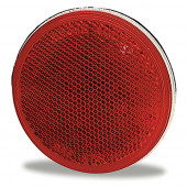 """Sealed 3"""" Round Stick-On Reflector, Red"""