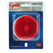 Runder 2 1/2″-Reflektoraufkleber, Rot, Doppelpack