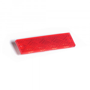 Mini Stick-On Screw-Mount Rectangular Reflectors, Red