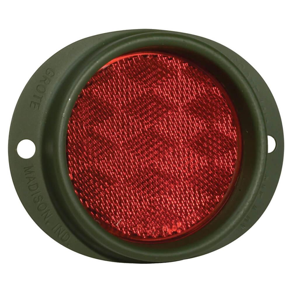 Reflector de acero con montaje de dos agujeros, Rojo