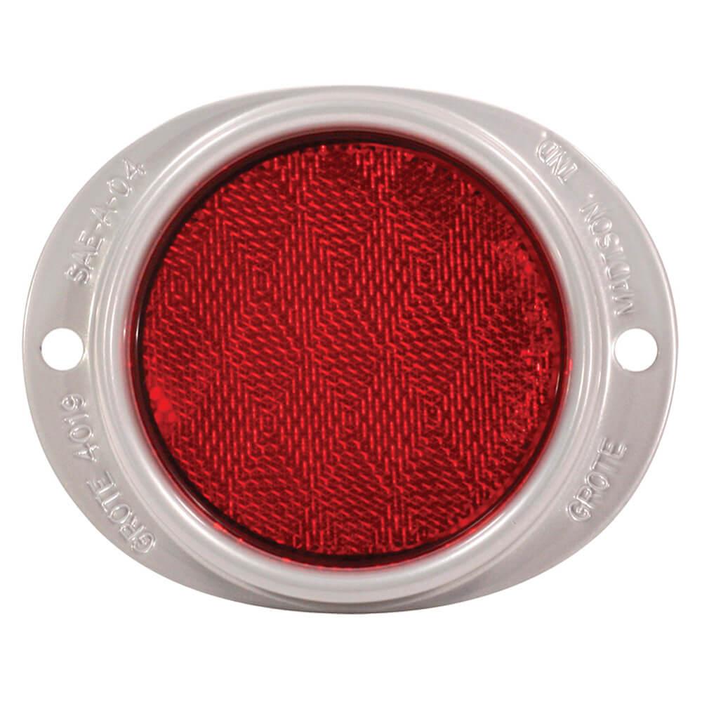 Reflector de aluminio con montaje de dos agujeros, Rojo