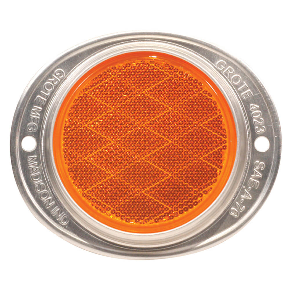 Grote 40233 Yellow Aluminum Two-Hole Mounting Reflectors