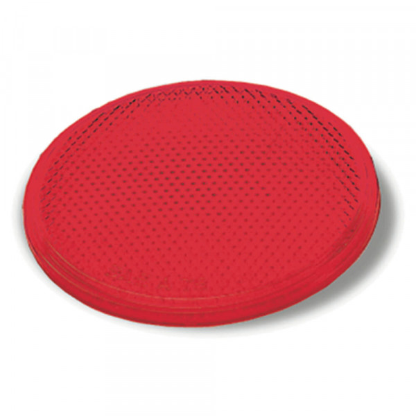 Red Round Stick-On Reflector