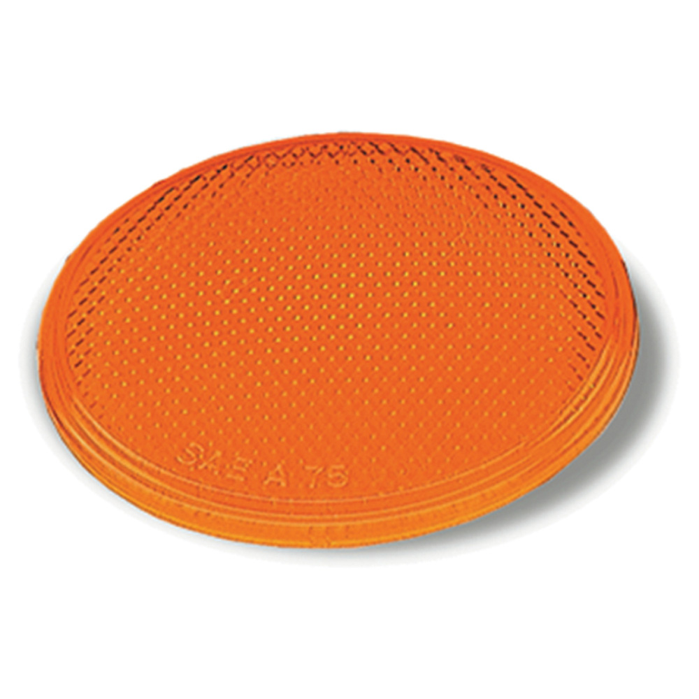 Yellow Round Stick-On Reflector