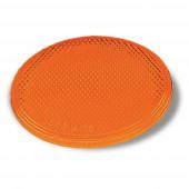 Amber Round Stick-On Reflector