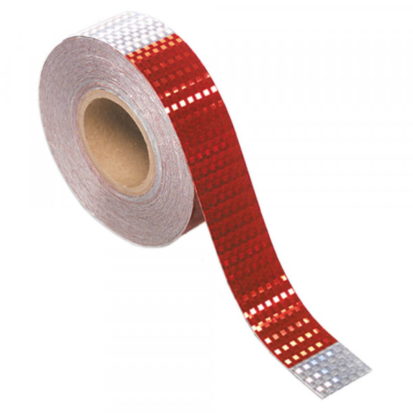 Conspicuity Tape Roll With Bright Prismatic Appearance.
