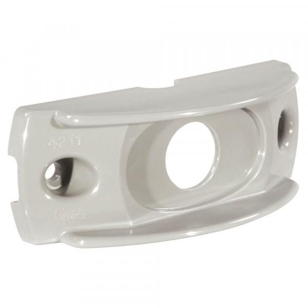 Oberflächenmontagebügel für MicroNova® oder MicroNova® Dot, Ovale Mini-Markierungsleuchte, Grau