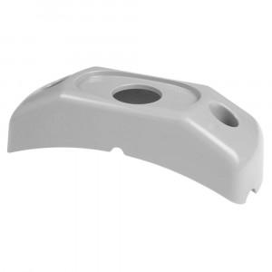 Soporte de montaje en superficie para MicroNova® o MicroNova® Dot, Soporte con radio de esquina, gris