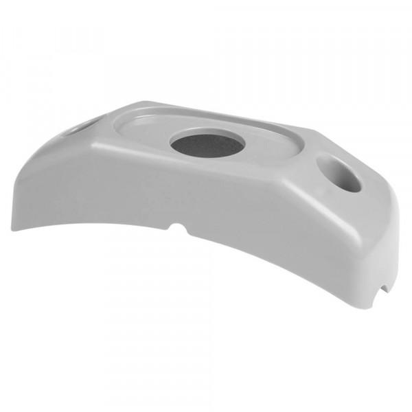 Oberflächenmontagebügel für MicroNova® oder MicroNova® Dot, Eckradius-Halterung, Grau