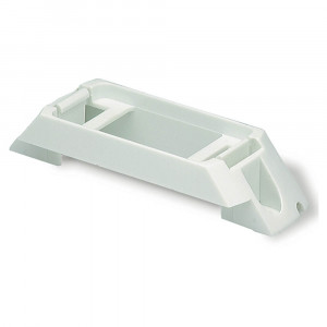 Rail-Mount Bracket For Small Rectangular Lights, White